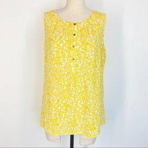 📦 Banana Republic Yellow Floral Sleeveless Blouse
